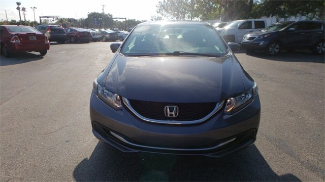 2015 Urban Titanium Metallic Honda Civic EX Automatic (CVT) 1.8L I4 SOHC 16V i-VTEC Engine 4 Door