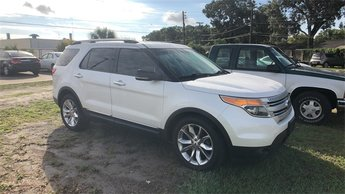 2012 White Ford Explorer XLT 4 Door FWD Automatic SUV 3.5L V6 Ti-VCT Engine