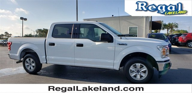 2018 White Ford F-150 XLT 5.0L V8 Engine RWD Automatic Truck