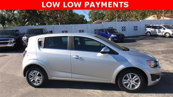 2016 Silver Ice Metallic Chevrolet Sonic LT FWD 4 Door Automatic