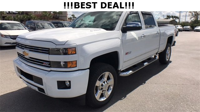 2016 Summit White Chevrolet Silverado 2500HD LTZ Automatic 4 Door Truck Duramax 6.6L V8 Turbodiesel Engine 4X4