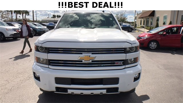 2016 Summit White Chevrolet Silverado 2500HD LTZ 4X4 Automatic Duramax 6.6L V8 Turbodiesel Engine 4 Door