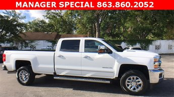 2016 Summit White Chevrolet Silverado 3500HD LTZ 4 Door Automatic 4X4 Duramax 6.6L V8 Turbodiesel Engine Truck