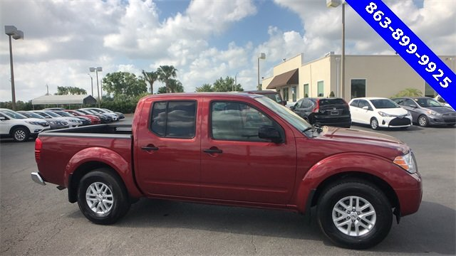 2017 Red Nissan Frontier SV V6 Automatic 4 Door RWD Truck 4.0L V6 DOHC Engine