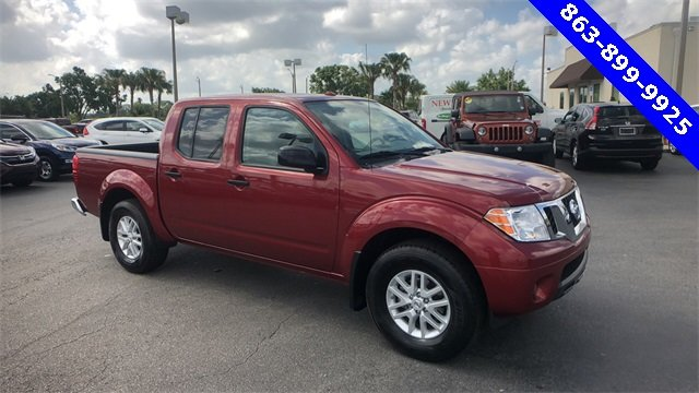 2017 Red Nissan Frontier SV V6 RWD 4.0L V6 DOHC Engine 4 Door Truck Automatic