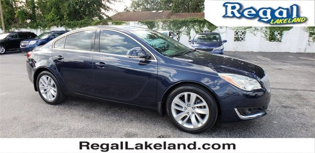 2015 Dark Sapphire Blue Metallic Buick Regal Turbo 2.0L 4-Cylinder DGI DOHC VVT Turbocharged Engine Automatic Sedan FWD 4 Door