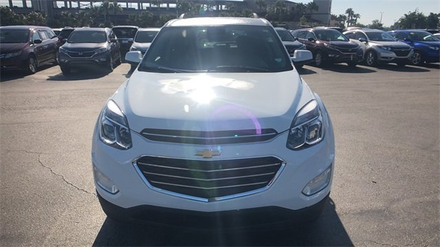 2017 Summit White Chevrolet Equinox LT 4 Door FWD 2.4L 4-Cylinder SIDI DOHC VVT Engine