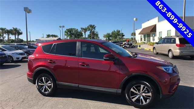 2018 Red Toyota RAV4 XLE Automatic SUV FWD 2.5L 4-Cylinder DOHC Dual VVT-i Engine 4 Door