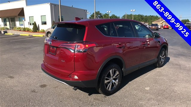 2018 Red Toyota RAV4 XLE 4 Door SUV Automatic