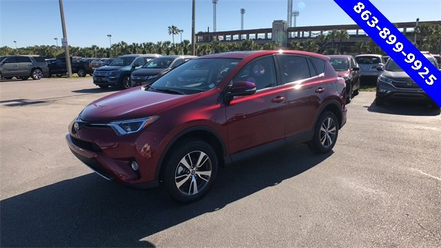 2018 Red Toyota RAV4 XLE SUV 2.5L 4-Cylinder DOHC Dual VVT-i Engine FWD Automatic