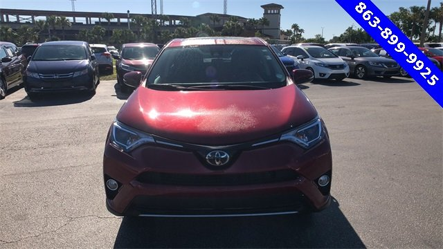 2018 Red Toyota RAV4 XLE 4 Door Automatic FWD SUV 2.5L 4-Cylinder DOHC Dual VVT-i Engine