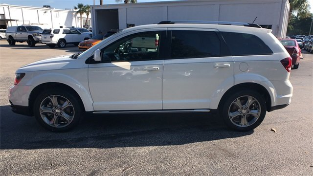 2016 White Dodge Journey Crossroad Plus Automatic 2.4L I4 DOHC 16V Dual VVT Engine FWD 4 Door