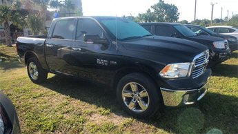 2016 Black Ram 1500 Big Horn Truck HEMI 5.7L V8 Multi Displacement VVT Engine 4X4 Automatic 4 Door