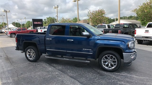 2016 Blue GMC Sierra 1500 SLT 4X4 4 Door Truck EcoTec3 5.3L V8 Engine