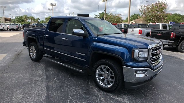 2016 Blue GMC Sierra 1500 SLT Automatic EcoTec3 5.3L V8 Engine 4 Door 4X4 Truck