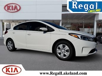 2018 Clear White Kia Forte LX Automatic FWD Sedan 2.0L 4-Cylinder Engine