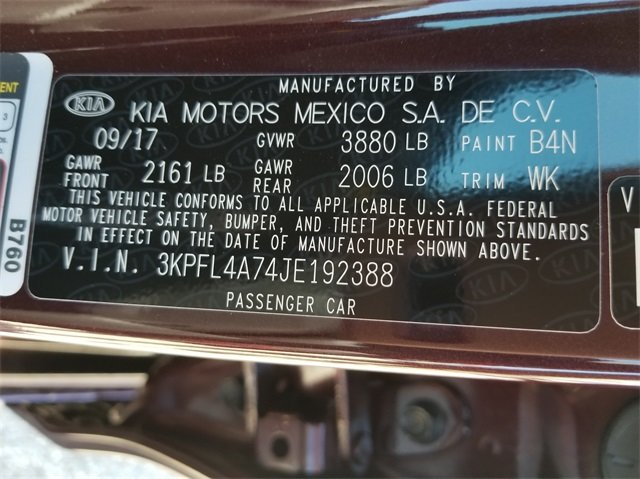 2018 Kia Forte LX Automatic 2.0L 4-Cylinder Engine Sedan FWD
