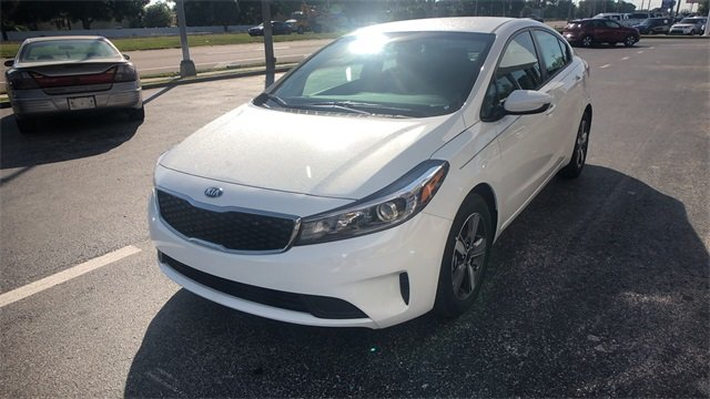 2018 Clear White Kia Forte S 4 Door Sedan 2.0L 4-Cylinder Engine FWD Automatic