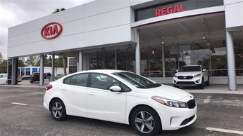 2018 Clear White Kia Forte S FWD 2.0L 4-Cylinder Engine Automatic 4 Door