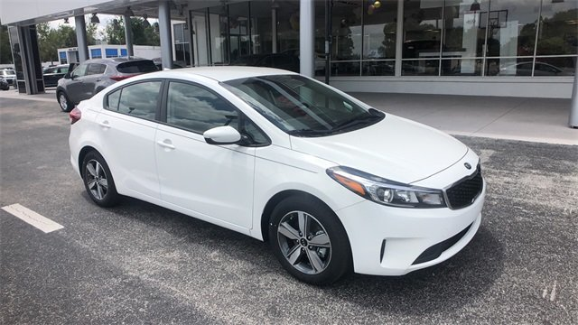 2018 Clear White Kia Forte S 2.0L 4-Cylinder Engine 4 Door FWD Automatic