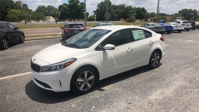 2018 Clear White Kia Forte S Automatic Sedan 4 Door