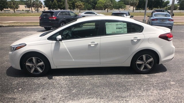2018 Clear White Kia Forte S Automatic 4 Door FWD 2.0L 4-Cylinder Engine