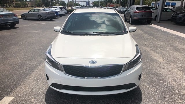 2018 Clear White Kia Forte S Sedan Automatic FWD