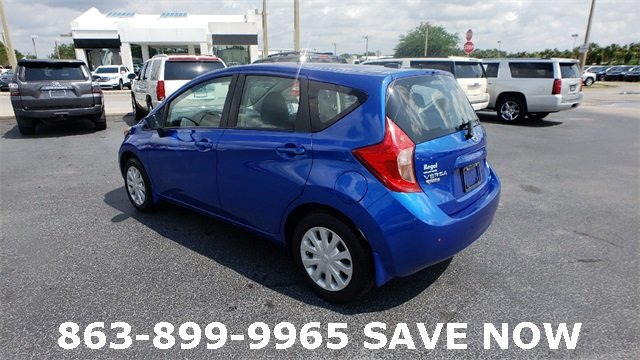 2016 Blue Nissan Versa Note FWD 1.6L 4-Cylinder DOHC 16V Engine Automatic (CVT) Hatchback 4 Door