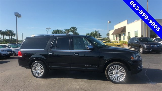 2015 Tuxedo Black Metallic Lincoln Navigator L Automatic 4 Door EcoBoost 3.5L V6 GTDi DOHC 24V Twin Turbocharged Engine SUV
