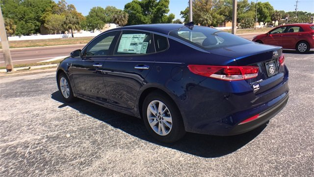 2018 Horizon Blue Kia Optima LX FWD 2.4L 4-Cylinder Engine 4 Door Automatic