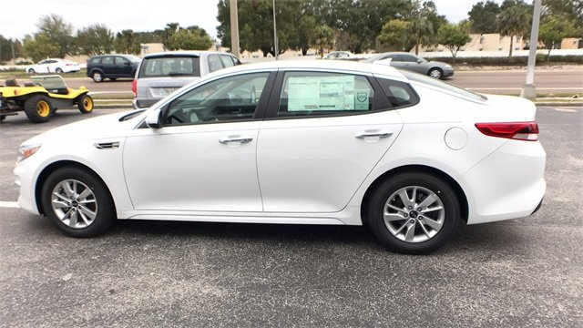 2018 Snow White Pearl Kia Optima LX FWD 4 Door Automatic 2.4L 4-Cylinder Engine