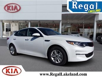 2018 Snow White Pearl Kia Optima LX FWD 2.4L 4-Cylinder Engine 4 Door Sedan Automatic