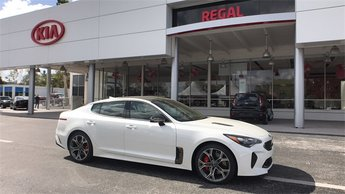 2018 Snow White Pearl Kia Stinger GT2 RWD Automatic 3.3L 6-Cylinder Turbocharged Engine 4 Door