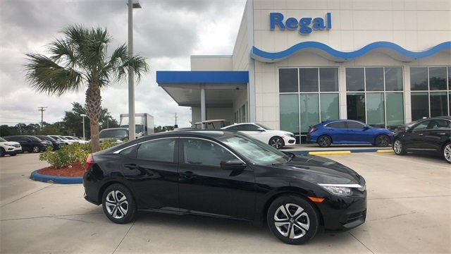 2018 Crystal Black Honda Civic LX Automatic (CVT) Sedan 2.0L I4 DOHC 16V i-VTEC Engine FWD