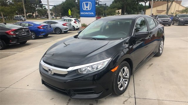 2018 Crystal Black Honda Civic LX FWD 4 Door Automatic (CVT) Sedan