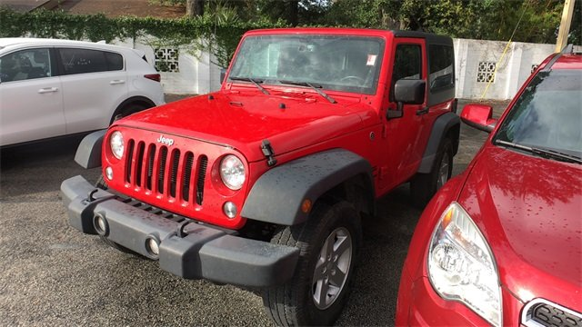2016 Firecracker Red Clearcoat Jeep Wrangler Sport 3.6L V6 24V VVT Engine 4X4 Automatic