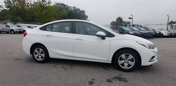 2016 Summit White Chevrolet Cruze LS Manual FWD 1.4L 4-Cylinder Turbo DOHC CVVT Engine