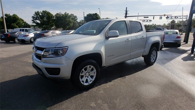 2018 Silver Ice Metallic Chevrolet Colorado LT V6 Engine RWD Truck Automatic