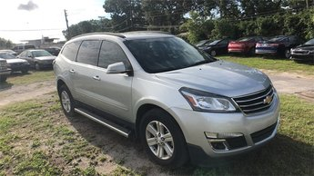 2014 Silver Ice Metallic Chevrolet Traverse LT 1LT FWD SUV 4 Door