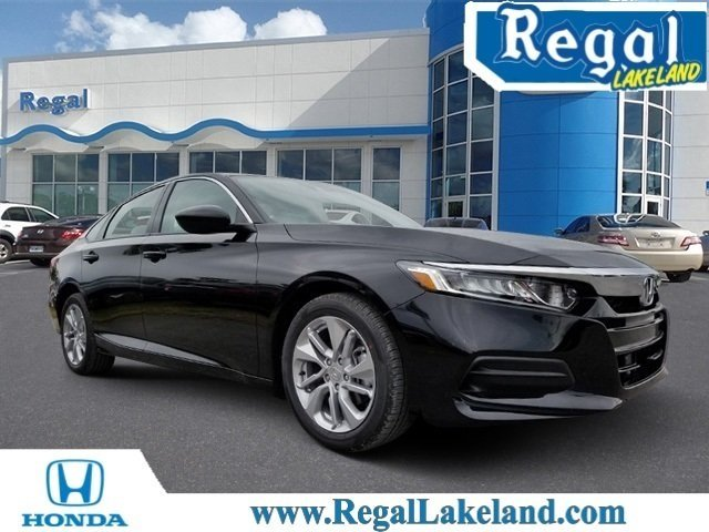 2018 Crystal Black Honda Accord LX FWD 4 Door Automatic (CVT) Sedan I4 DOHC 16V Turbocharged Engine