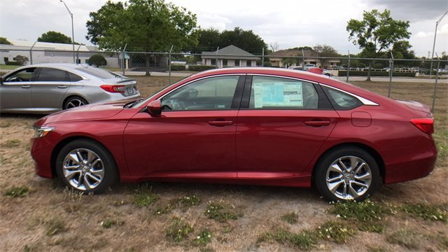 2018 Radiant Red Metallic Honda Accord LX FWD Sedan 4 Door I4 DOHC 16V Turbocharged Engine