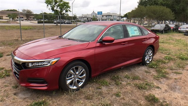 2018 Radiant Red Metallic Honda Accord LX I4 DOHC 16V Turbocharged Engine 4 Door FWD