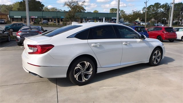 2018 Diamond White Honda Accord EX FWD I4 DOHC 16V Turbocharged Engine 4 Door Automatic (CVT) Sedan