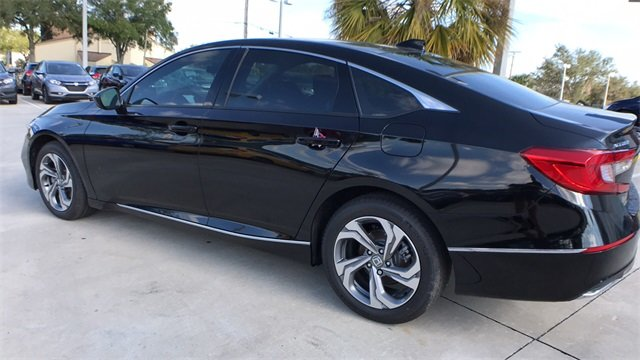 2018 Crystal Black Honda Accord EX Sedan Automatic (CVT) FWD I4 DOHC 16V Turbocharged Engine