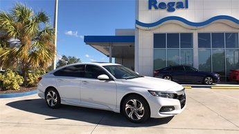 2018 Diamond White Honda Accord EX I4 DOHC 16V Turbocharged Engine Automatic (CVT) 4 Door Sedan FWD