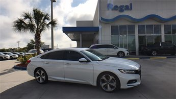 2018 Diamond White Honda Accord Touring Automatic (CVT) FWD I4 DOHC 16V Turbocharged Engine 4 Door