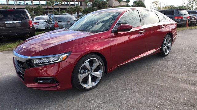 2018 Scarlet Honda Accord Touring Automatic (CVT) I4 DOHC 16V Turbocharged Engine Sedan