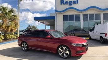 2018 Scarlet Honda Accord Touring 4 Door Sedan I4 DOHC 16V Turbocharged Engine FWD Automatic (CVT)