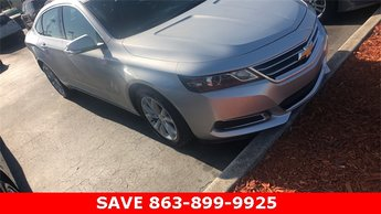 2017 Silver Ice Metallic Chevrolet Impala LT 1LT FWD Sedan Automatic 4 Door