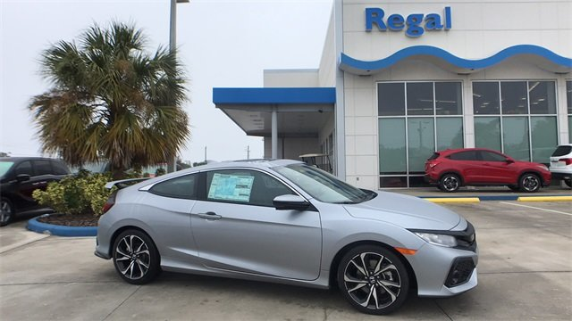 2018 Lunar Silver Metallic Honda Civic Si 1.5L I-4 DI DOHC Turbocharged Engine FWD 2 Door Coupe